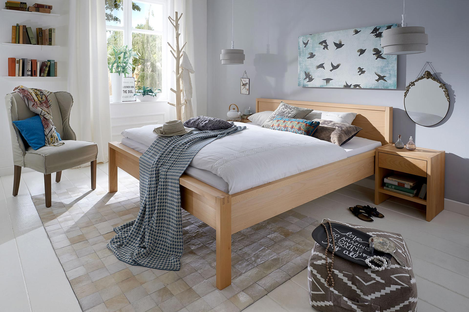 Bett nova hartmann naturm bel for Polster outlet essen