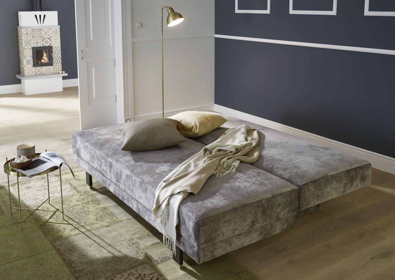 schlafsofa dorena grau schlaffunktion hartmann naturm bel. Black Bedroom Furniture Sets. Home Design Ideas
