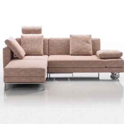 four-two Schlafsofa in braun in der Sofafunktion