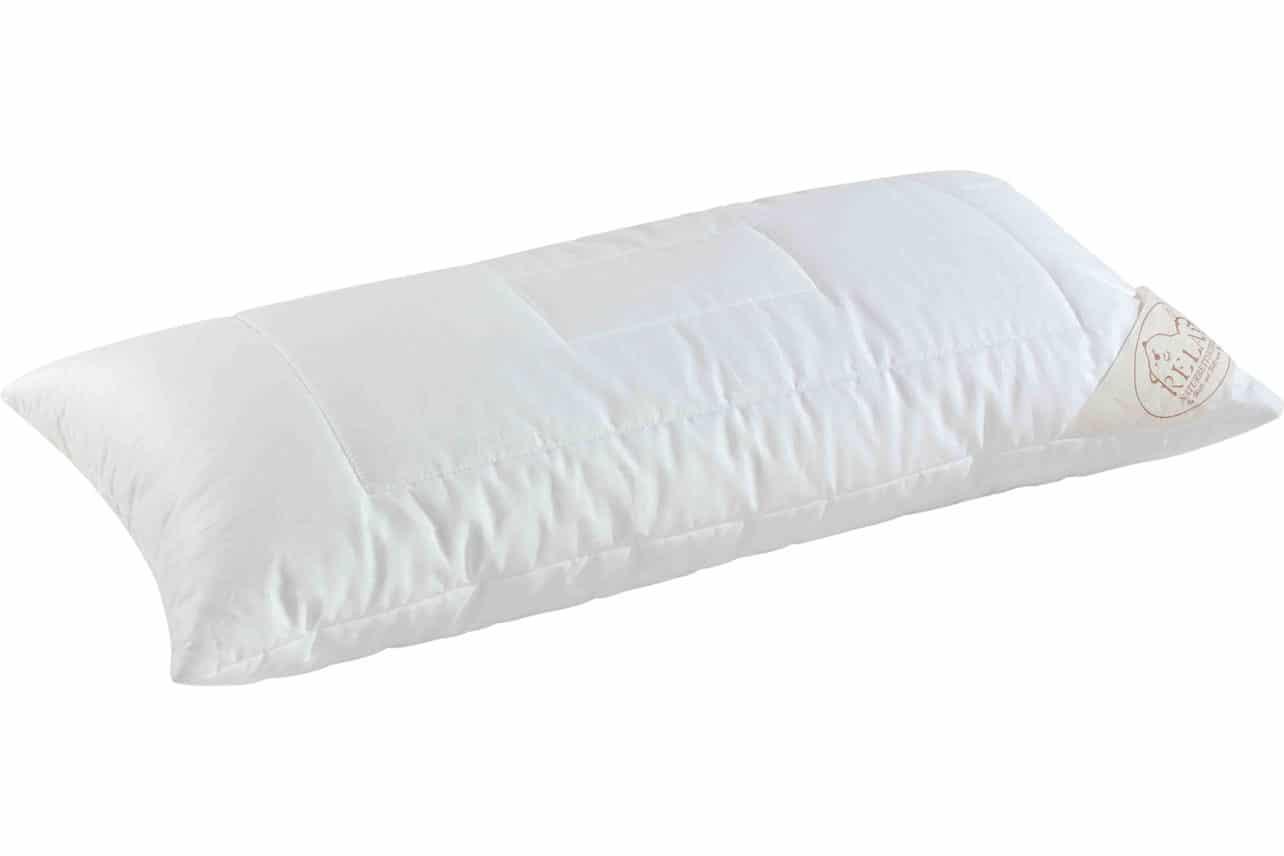 Kissen Tencel, gefüllt mit Schafschurwollkugeln oder Polyesterfaserbällchen. Oberstoff aus 100% naturbelassenem Baumwoll-Gewebe mit 100% Lyocell (Tencel®) gefüllt.