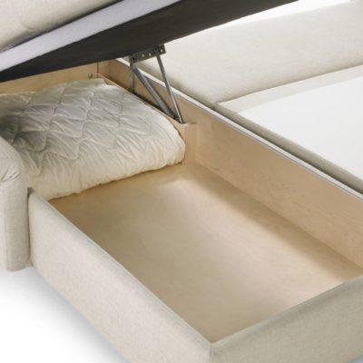 PAULA Chaiselongue Bettkasten (Innenmaß: 147 x 69 x 15 cm)
