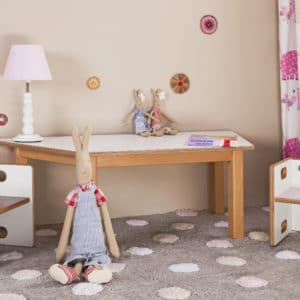Kindertisch, Wandelstühle