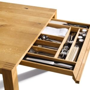 Tisch Loft mit Schublade in Eiche wild.