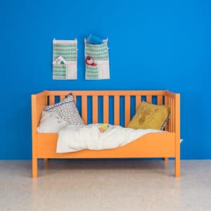 Babybett, orange