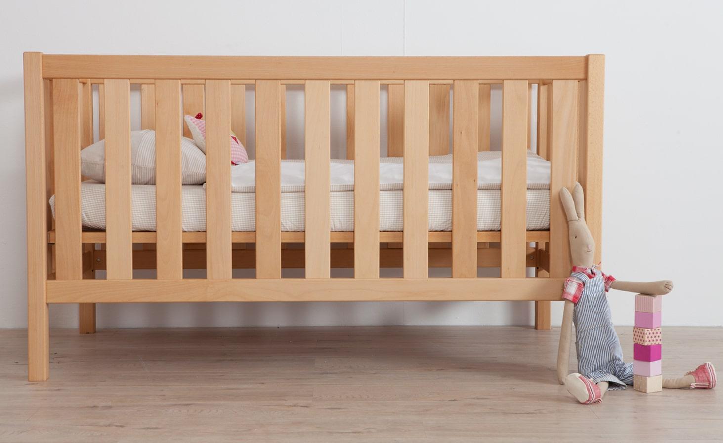 Babybett debe.detail, umbaubar zum Juniorbett - Hartmann Naturmöbel