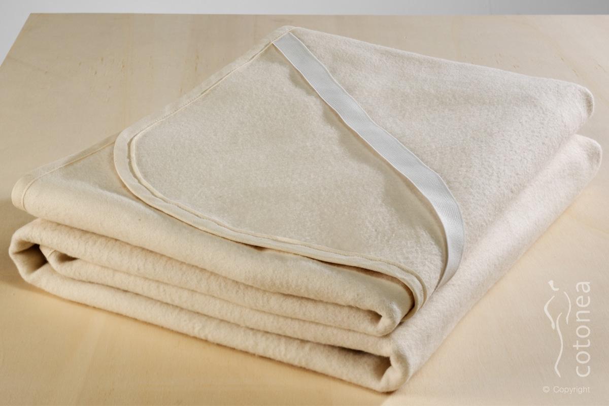 Molton-Matratzenschutzauflage aus kbA Baumwolle
