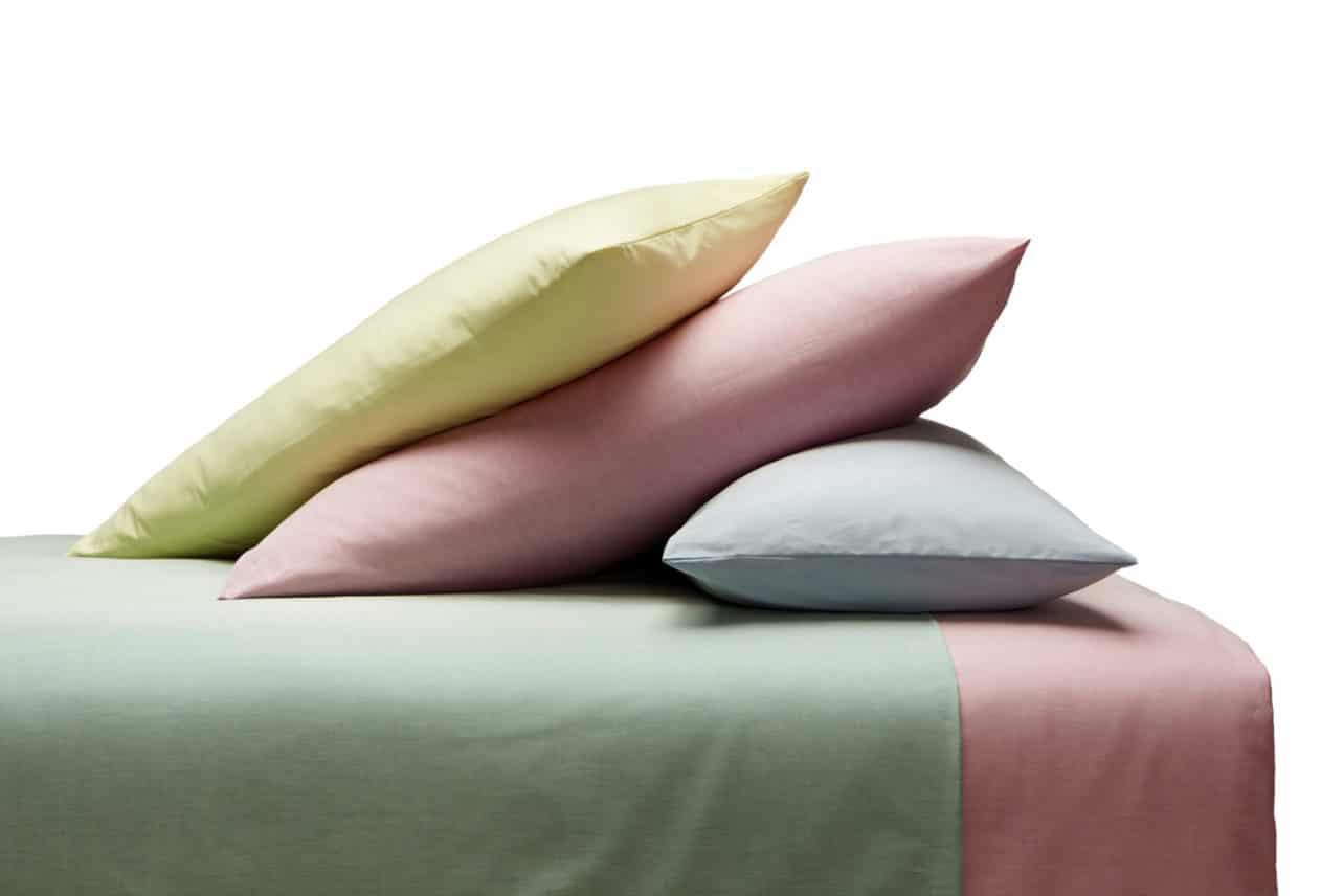 Chambray Bettwäsche aus kbA Baumwolle in verschiedenen Pasteltönen