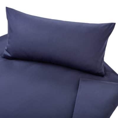 Satinbettwäsche Classic aus kbA Baumwolle in Farbe Azurblau