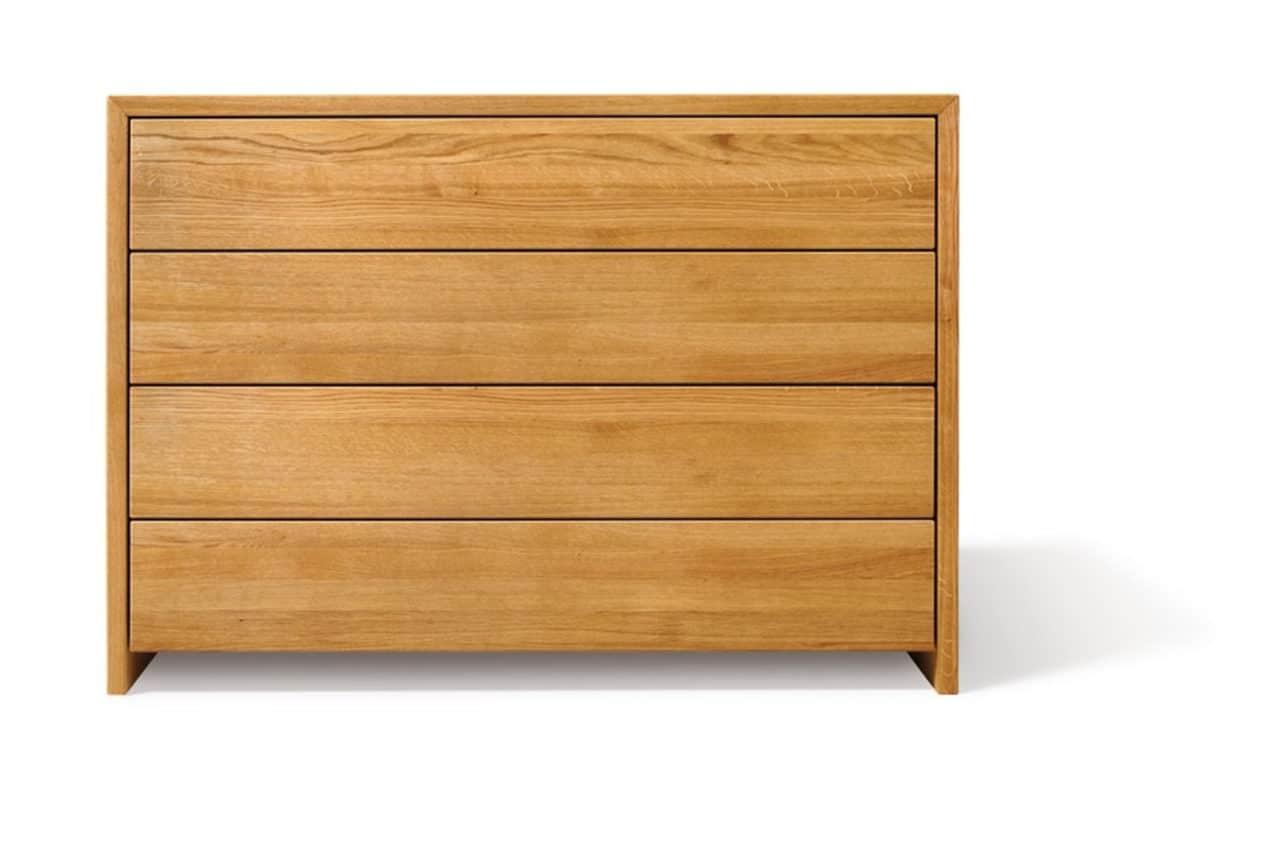 Kommode Lunetto in Eiche geölt mit 4 Laden in Holz.