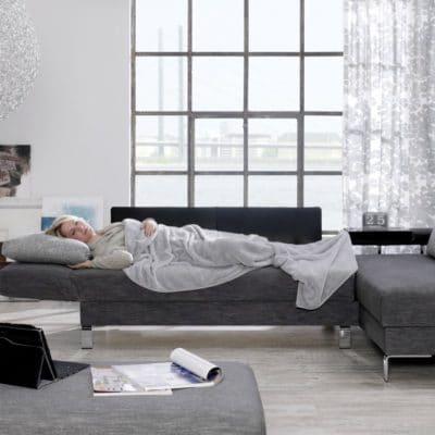 Schlafsofa/Liege Solo mit Anbauelement