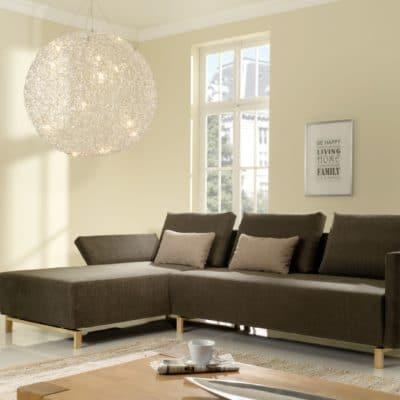 braunes 2,5-Sitzer Sofa Gio mit Recamiere und klappbaren Armlehnen