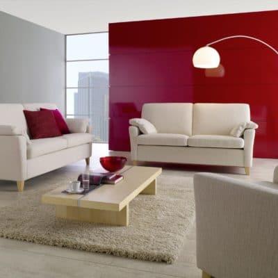 Klassische Sofa-Kombination Milano in Creme